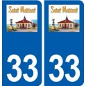 33 Saint-Maixant logo city sticker, plate sticker