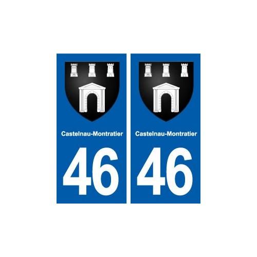 46 Castelnau-Montratier blason autocollant plaque stickers ville