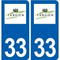 33 Targon logo ville autocollant plaque stickers