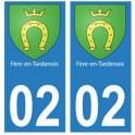 02 Fère-en-Tardenois ville autocollant plaque