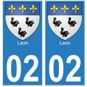 02 Laon ville autocollant plaque