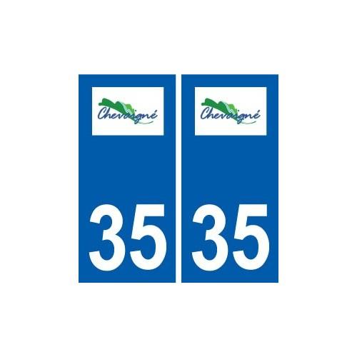 35 chevaign logo collant plaque immatriculation stickers ville. Black Bedroom Furniture Sets. Home Design Ideas