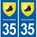 35 Piré-sur-Seiche blason autocollant plaque stickers ville