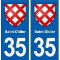 35 Saint-Didier blason autocollant plaque stickers ville