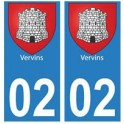 02 Vervins ville autocollant plaque
