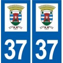 37 Sorigny logo city sticker, plate sticker