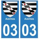 03 Avermes city sticker plate