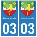 03 Bellerive-sur-Allier ville autocollant plaque