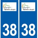 38 Reventin-Vaugris logo ville autocollant plaque stickers