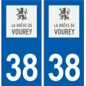 38 Vourey logo city sticker, plate sticker