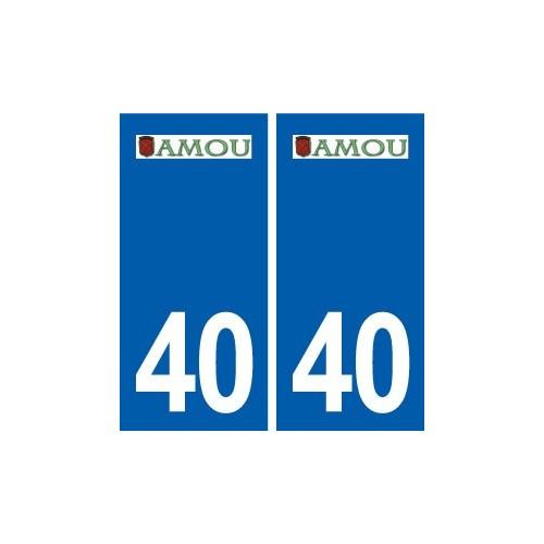 40 Amou autocollant plaque logo stickers département ville