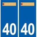40 Magescq sticker plate logo stickers department city