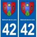 42 Belmont-de-la-Loire blason ville autocollant plaque stickers département