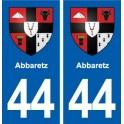 44 Abbaretz blason ville autocollant plaque stickers