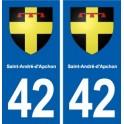 42 Saint-André-d'Apchon blason ville autocollant plaque stickers département