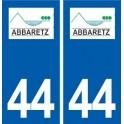 44 Abbaretz logo ville autocollant plaque stickers