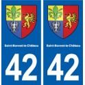 42 Saint-Bonnet-le-Château coat of arms, city sticker, plate sticker department