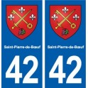 42 Saint-Pierre-de-Bœuf blason ville autocollant plaque stickers département