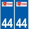 44 Issé logo ville autocollant plaque stickers