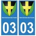 03 Saint-Germain-des-Fossé ville autocollant plaque