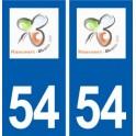 54 Haucourt-Moulaine logo autocollant plaque stickers ville