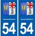 54 Haucourt-Moulaine blason autocollant plaque stickers ville