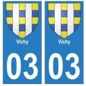 03 Vichy ville autocollant plaque
