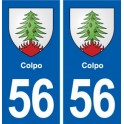 56 Colpo blason autocollant plaque stickers ville