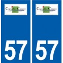 57 Courcelles-Chaussy logo sticker plate stickers city