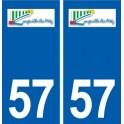 57 Longeville-lès-Metz logo autocollant plaque stickers ville