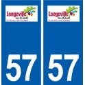 57 Longeville-lès-Saint-Avold logo autocollant plaque stickers ville