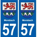 57 Morsbach coat of arms sticker plate stickers city
