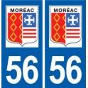 56 Moréac logo autocollant plaque stickers ville