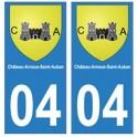 04 Château-Arnoux-Saint-Auban ville autocollant plaque