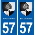 57 Saint-Julien-lès-Metz blason autocollant plaque stickers ville