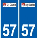 57 Scy-Chazelles logo sticker plate stickers city