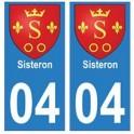 04 Sisteron ville autocollant plaque