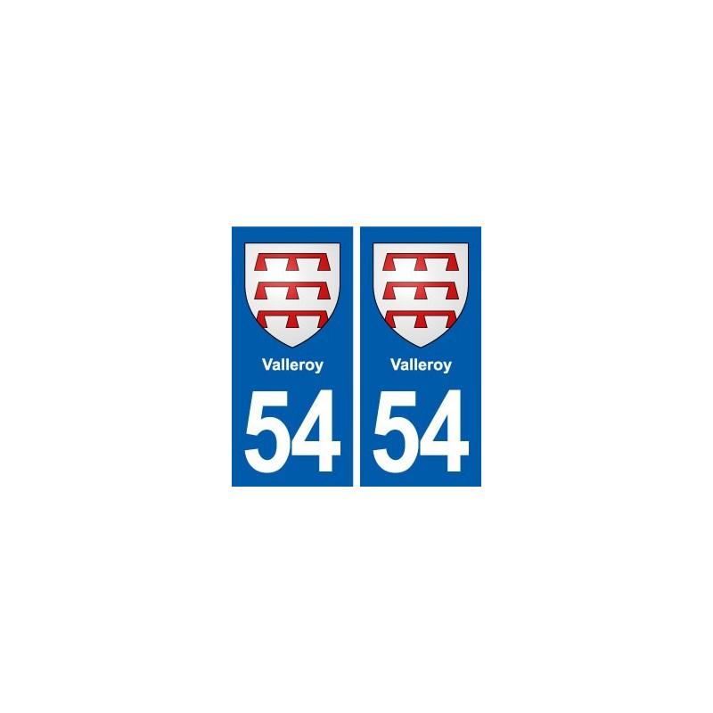 54 valleroy blason autocollant plaque immatriculation for Valleroy 54