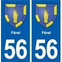 56 Férel blason autocollant plaque immatriculation stickers ville