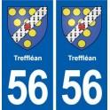 56 Treffléan blason autocollant plaque immatriculation stickers ville