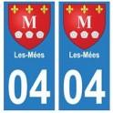 04 Les-Mées ville autocollant plaque