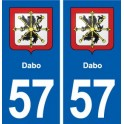 57 Dabo blason autocollant plaque immatriculation stickers ville