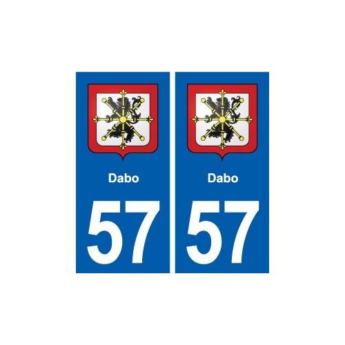 57 Dabo blason autocollant plaque immatriculation stickers ville