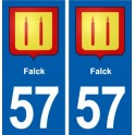 57 Falck coat of arms sticker plate stickers city