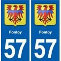 57 Fontoy coat of arms sticker plate stickers city