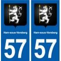 57 Ham-sous-Varsberg blason autocollant plaque stickers ville