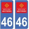 46 Lot autocollant plaque