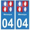 04 Manosque ville autocollant plaque