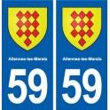 59 Allennes-les-Marais coat of arms sticker plate stickers city