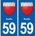 59 Aveline coat of arms sticker plate stickers city